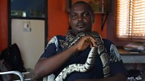 'I'm the snake man of Lagos'