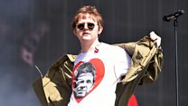 Lewis Capaldi steps out at Glastonbury dressed as Noel Gallagher