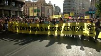 Madrid anti-pollution protesters call for car ban