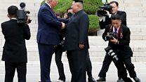 أول لقاء بين دونالد ترامب وكيم جونغ أون على الحدود بين الكوريتين