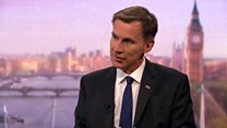 Hunt would no-deal Brexit 'with a heavy heart'