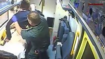 Patient attacks paramedic in ambulance