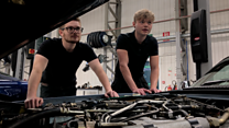 The young people learning to restore vintage cars