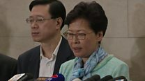 HK leader Carrie Lam condemns 'violent' protesters
