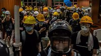 Protesters removed from HK parliament building