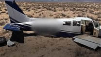 Plane crash lands in California's Mojave desert