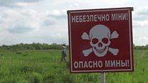 Ukraine's landmines endangering children