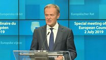 Tusk hails 'perfect gender balance' for top jobs