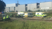 Train halted after two killed on rail line