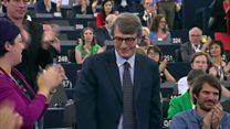 New European Parliament president's first speech