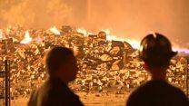 Viski fabrikası deposunda yangın: 45 bin varil viski yandı