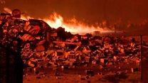 45,000 barrels of bourbon go up in smoke