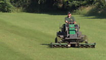 Jimmy the Mower creates 'Wembley' council pitch