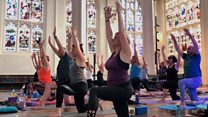 Yoga experience in cathedral 'boosts wellbeing'