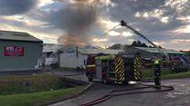 Firefighters tackle Bridport industrial estate blaze