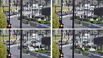 Met Police release footage of Westminster car crash
