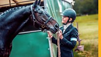 The competitive horse rider who is blind