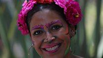 Dressing up to celebrate Frida Kahlo
