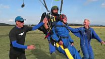 Skydiving treat for Tommy's 100th birthday
