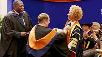Emeli Sande awards degrees to parents