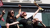 Rapinoe demands equal pay for 'badass team'