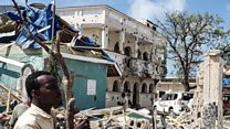 Aftermath of hotel attack in Somalia's Kismayo