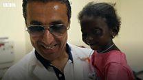 예멘에서 온 6살 유스라의 새 눈