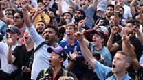 'Nail-biting finish' - fans on cricket final