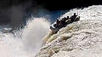 Rafters accidentally plunge over waterfall