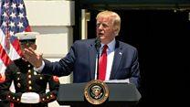 Trump rejects racist tweet allegations