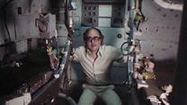 Inside the Apollo command module