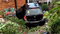 Car crashes into children's party