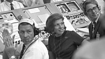 The only woman in the Apollo 11 control room