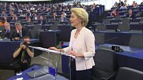 EU's first female president thanks MEPs after vote