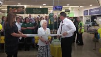 Grandma reopens her local supermarket in Sheffield