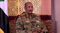 عبد الفتاح البرهان  رئيس المجلس العسكري الانتقالي في السودان