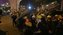 Protesters and police clash in Hong Kong