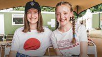 Glastonbury appeal teen meets singing idol Sigrid