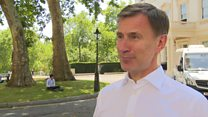 Jeremy Hunt 'disappointed' at leadership contest loss