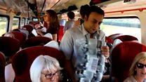 Passengers handed water on stuck train