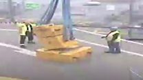 N-sub dock worker dodged toppling 5 tonne weights