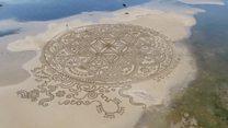 Картины на песке: мимолетное искусство хорватского художника