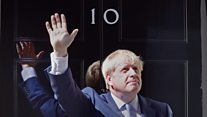 Boris Johnson's first day as prime minister