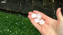 Region hit by 20p-sized hailstones