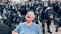 抗议警察不作为 香港元朗示威全过程