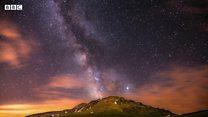 کهکشان راه شیری از قله سبلان