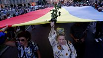 Protests in Romania over kidnapped teenager
