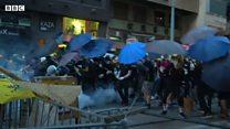 香港デモ、またも警察と衝突 中国政府が異例の非難