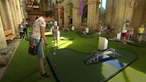 Cathedral turned into mini golf course