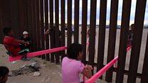 Гойдалка на кордоні США та Мексики